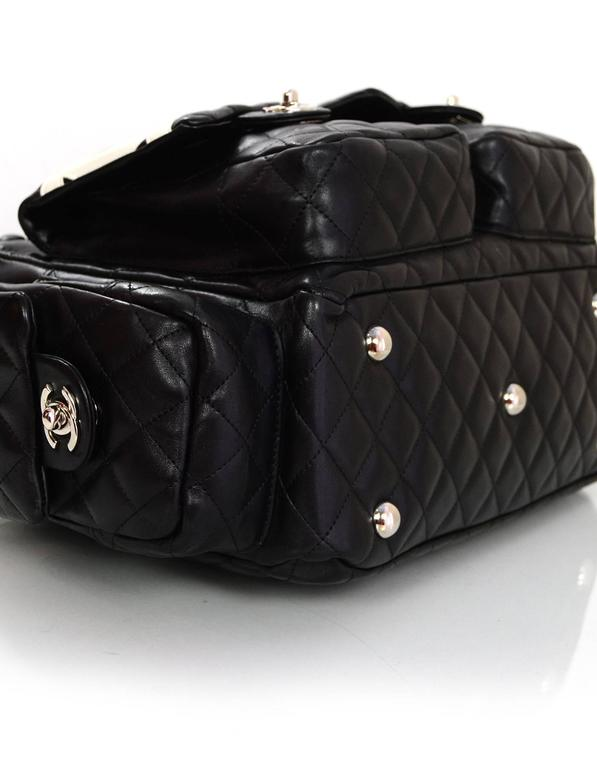 9ae570d309c2f7 Women's Chanel Black Leather Cambon Ligne Multipocket Reporter Bag with Dust  Bag For Sale