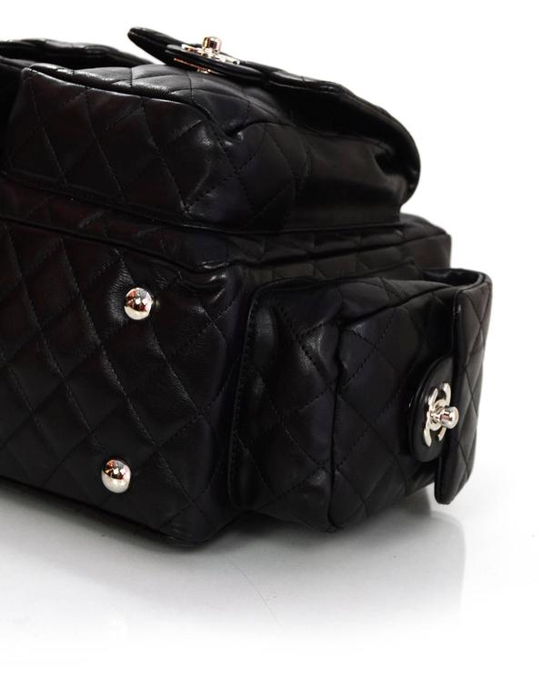 20753e26bba9c6 Chanel Black Leather Cambon Ligne Multipocket Reporter Bag with Dust Bag  For Sale 1