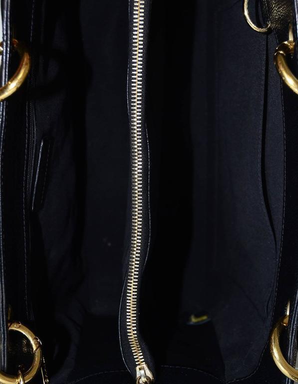 3385876cba14 Chanel DISCONTINUED Black Caviar Leather GST Grand Shopper Tote Bag For  Sale 2