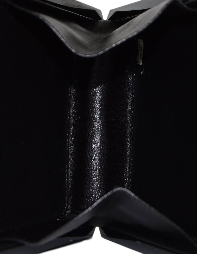 Chanel NEW 2014 Black Plexiglass Perfume Bottle Crossbody Evening Bag 5