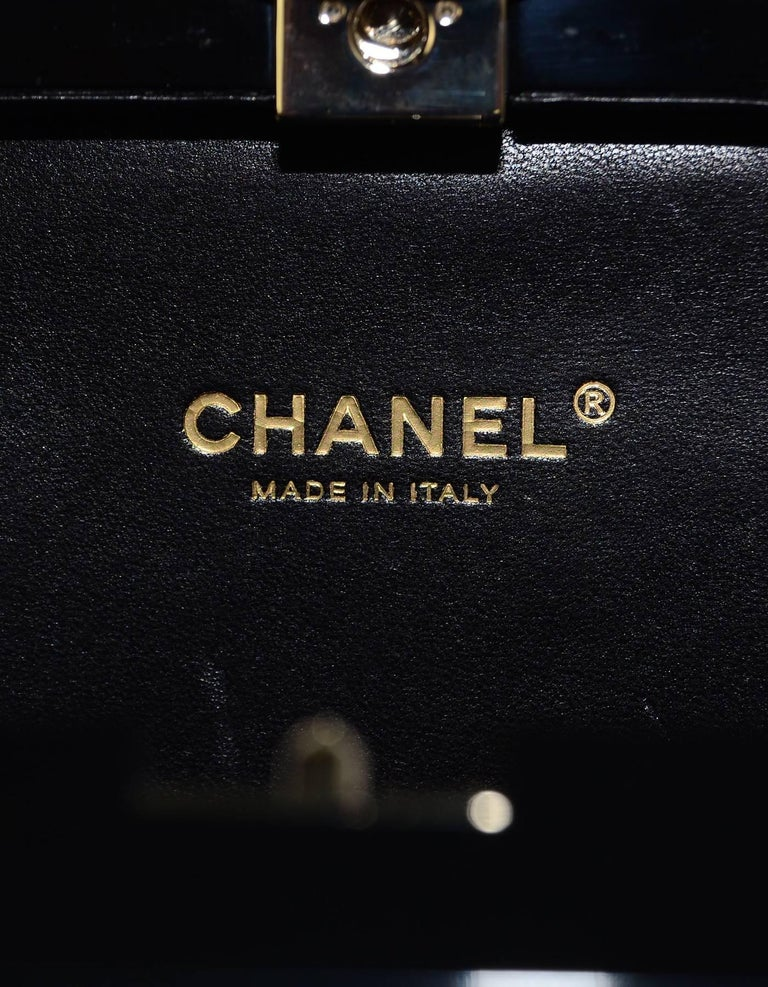Chanel NEW 2014 Black Plexiglass Perfume Bottle Crossbody Evening Bag 6