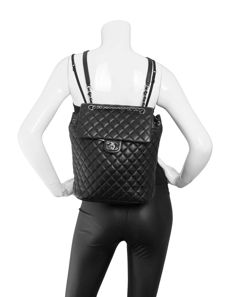 053649aa617e Chanel Black Quilted Lambskin Large Urban Spirit Backpack Made In: Italy  Year Of Production:
