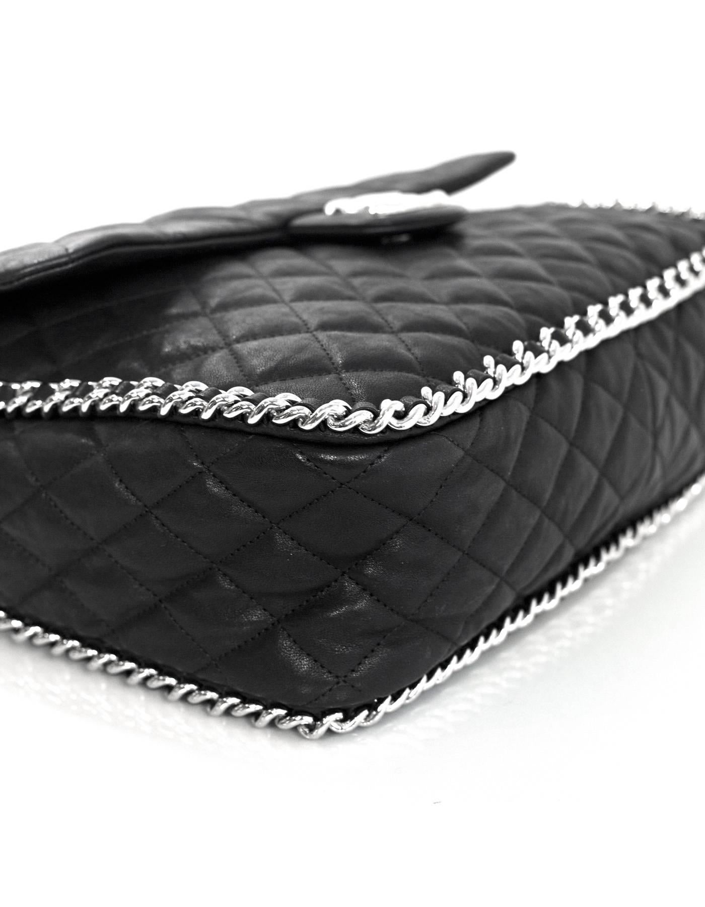 2491489243e5 Chanel Black Quilted Chain Around Maxi Flap Bag For Sale at 1stdibs