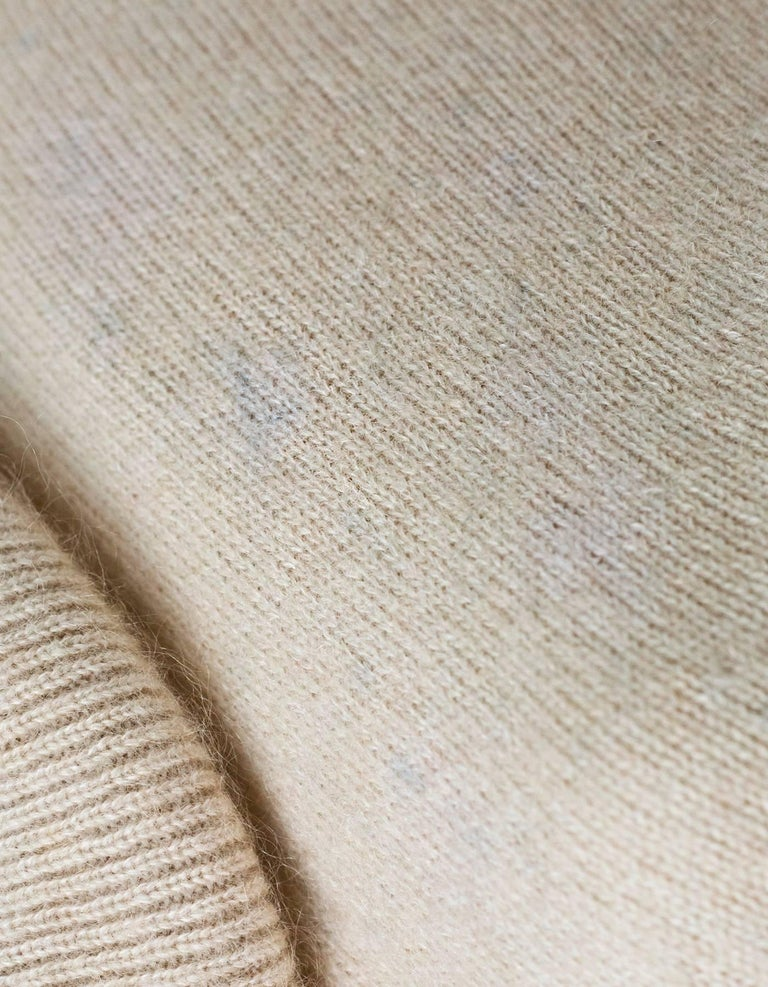 Women's Acne Studios Oatmeal Wool Oversized Sweater w/ Removable Collar Sz S For Sale