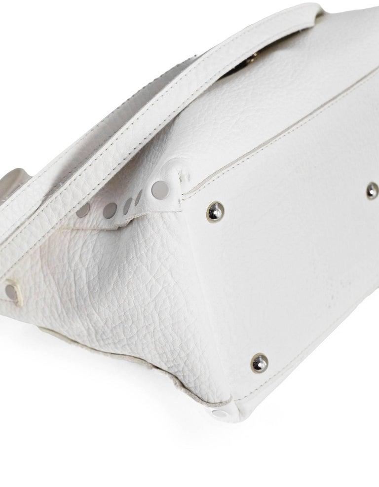 Zanellato White Leather Small Postina Handle Bag 5