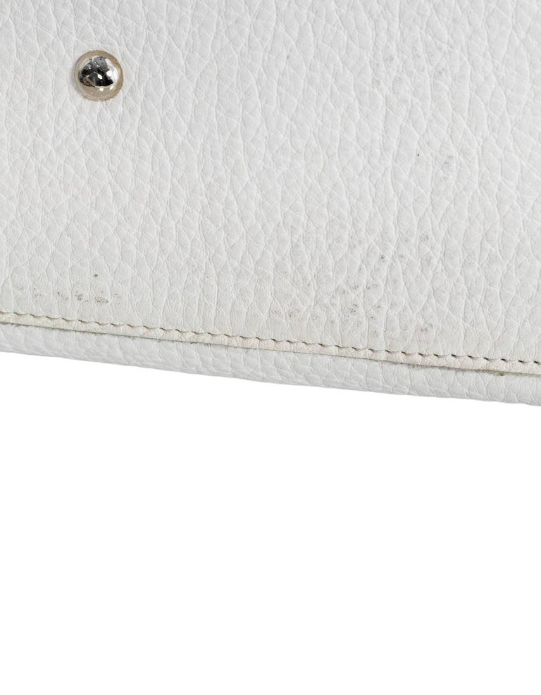 Zanellato White Leather Small Postina Handle Bag For Sale 4