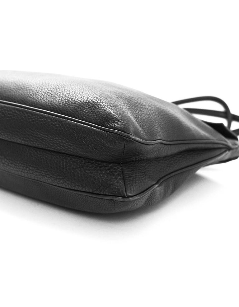Prada Black Leather Tote Bag For Sale 1