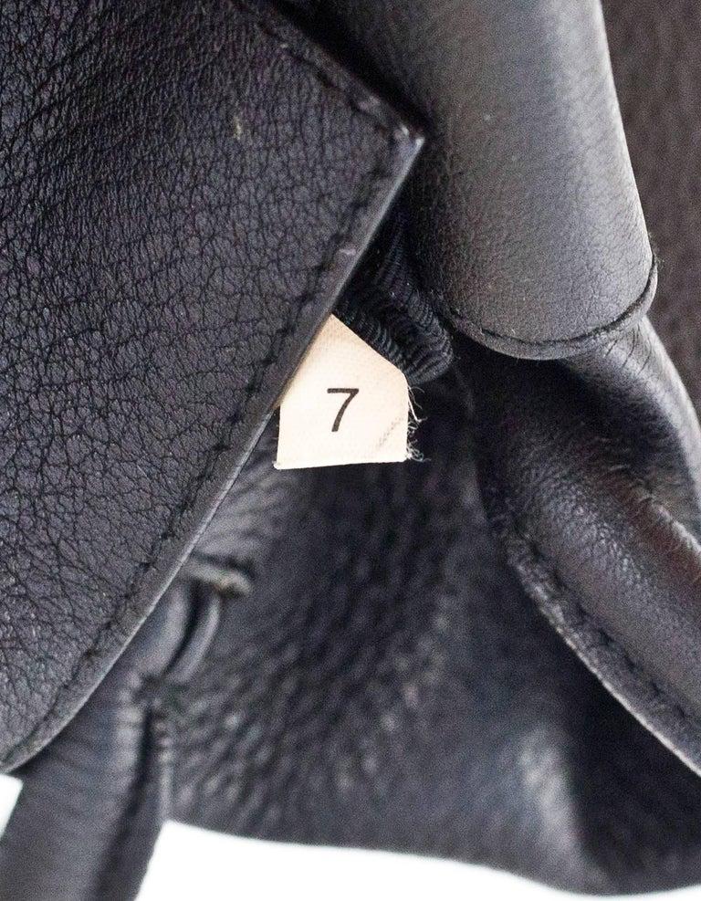 Prada Black Leather Tote Bag For Sale 4