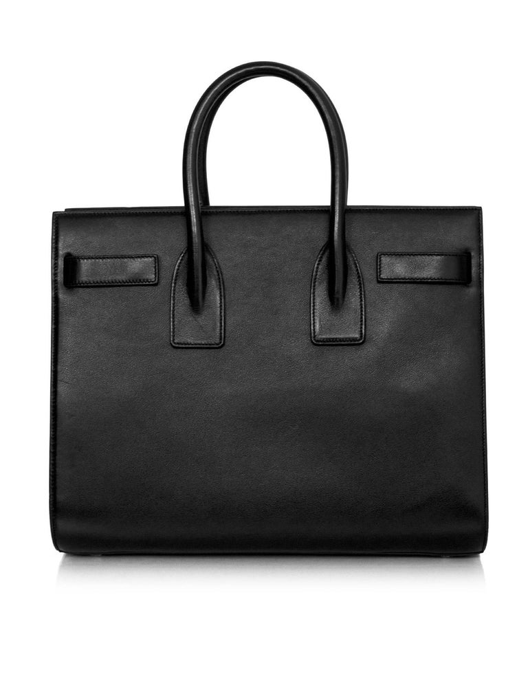 8/9 Saint Laurent Black Calfskin Small Sac De Jour Bag 3