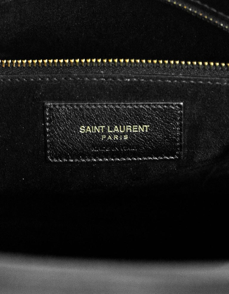 8/9 Saint Laurent Black Calfskin Small Sac De Jour Bag 7