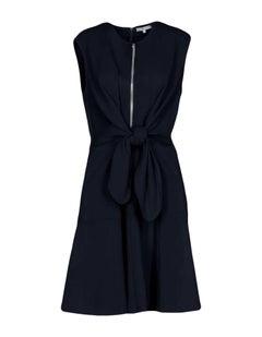 Carven Navy Sleeveless Zip Front Dress sz S