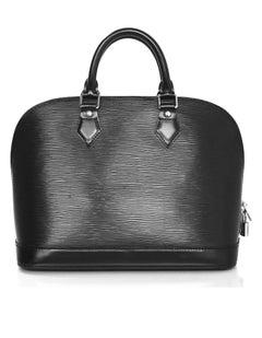 Louis Vuitton Black Epi Alma PM Bag with DB