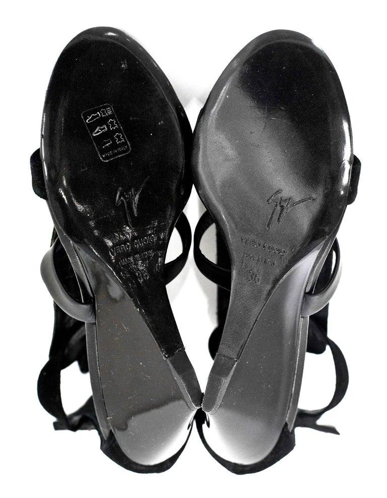 Giuseppe Zanotti Black Bead & Chain Sandals Sz 36 NIB For Sale 1