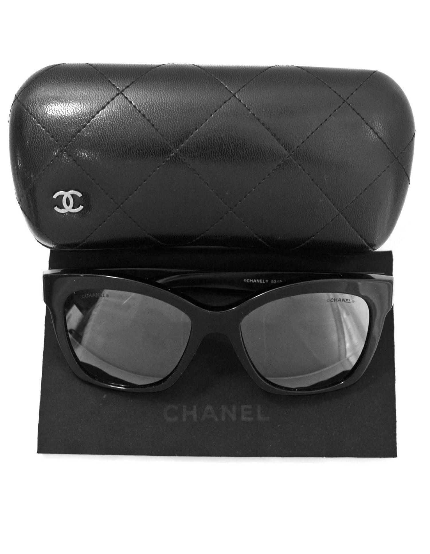 09ff45e3bbadb Chanel Black Pantos Spring CC Lego Mirrored Sunglasses with Case For Sale at  1stdibs