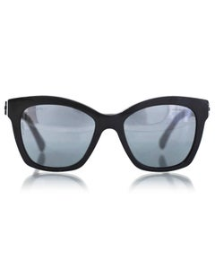 Chanel Black Pantos Spring CC Lego Mirrored Sunglasses with Case
