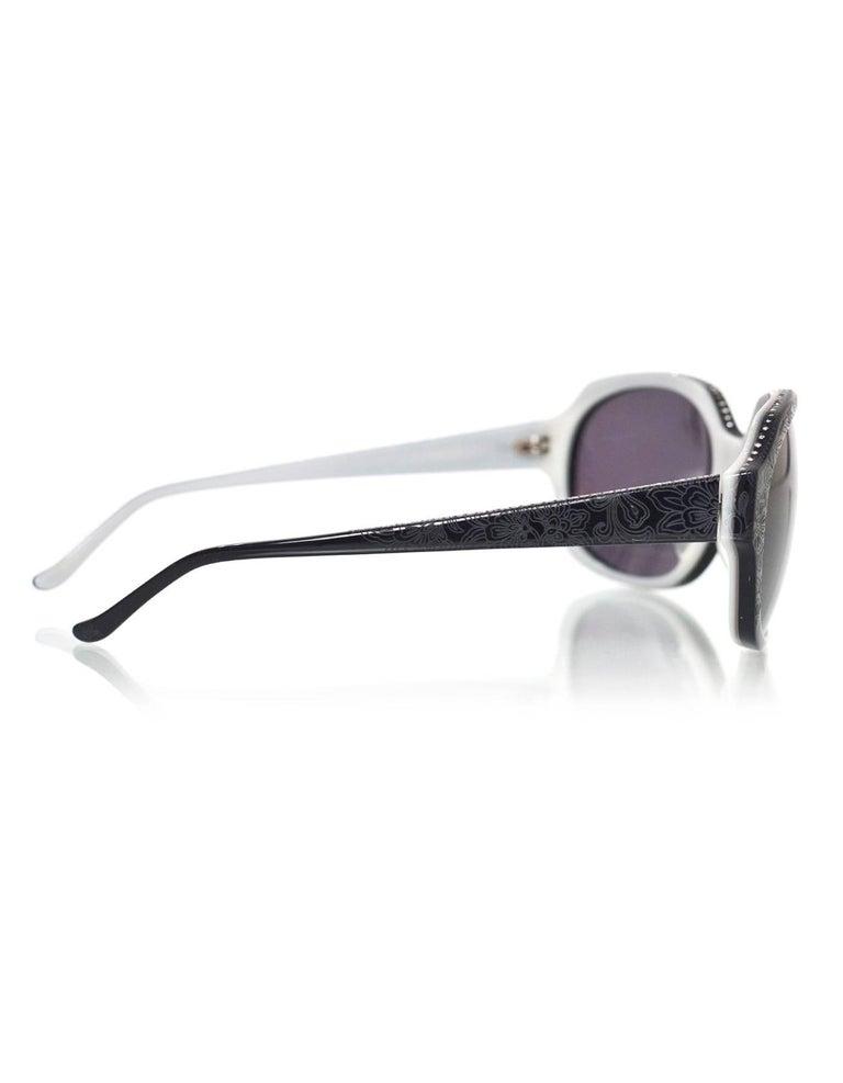 Women's Judith Leiber JL1169 Black Swarovski Crystal Sunglasses with Case For Sale
