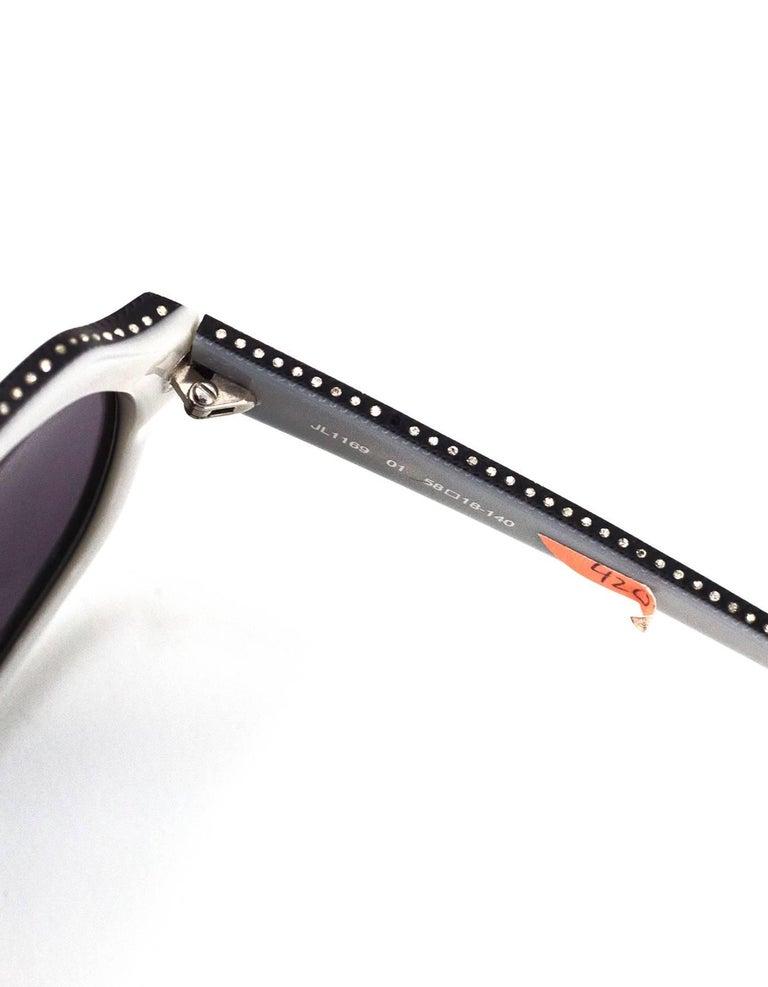 Judith Leiber JL1169 Black Swarovski Crystal Sunglasses with Case For Sale 4