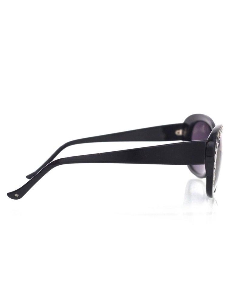 Judith Leiber JL1623 Black Deja Vu Crystal Sunglasses 4