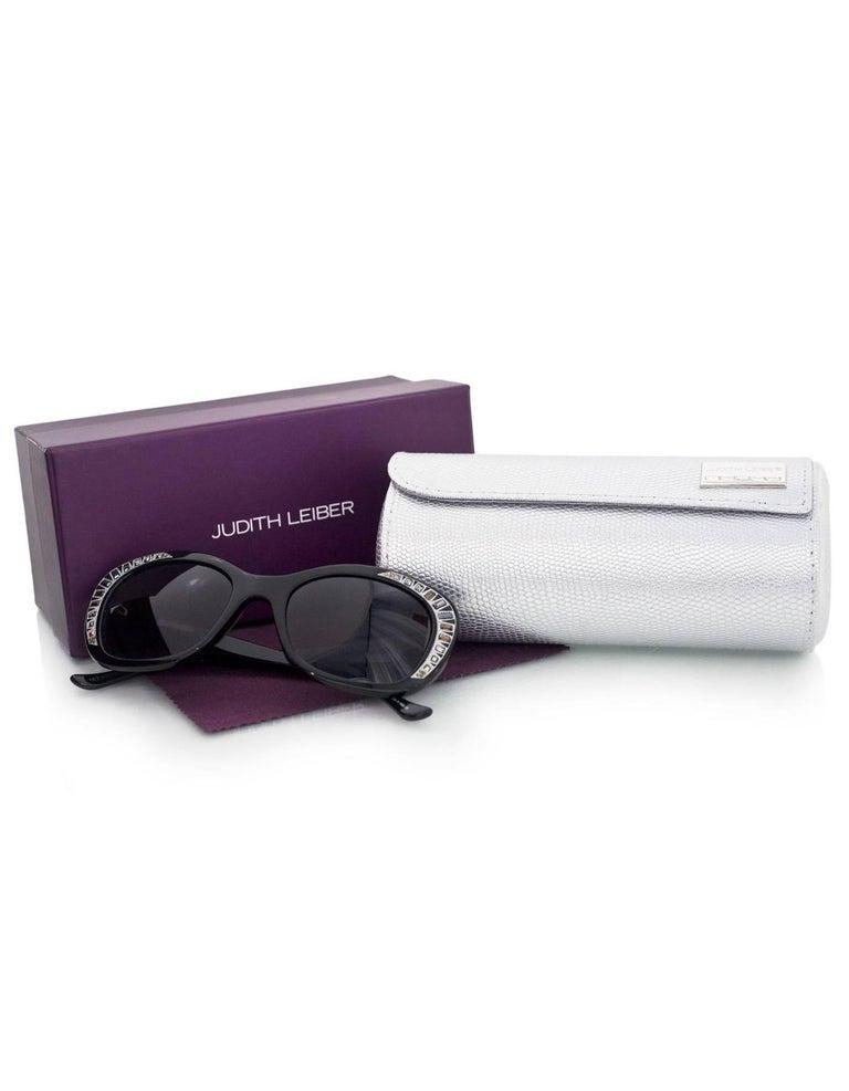 Judith Leiber JL1623 Black Deja Vu Crystal Sunglasses 8