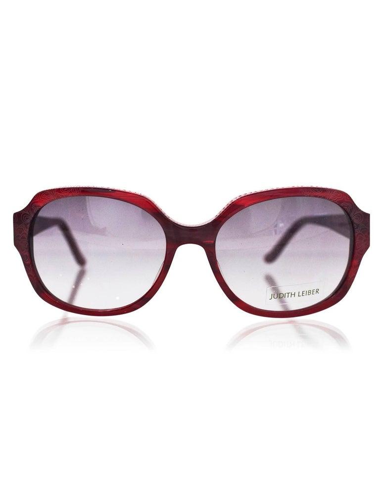 44903ca8f9b5d Black Judith Leiber JL1169 Red Swarovski Crystal Sunglasses w  Box   Case  For Sale
