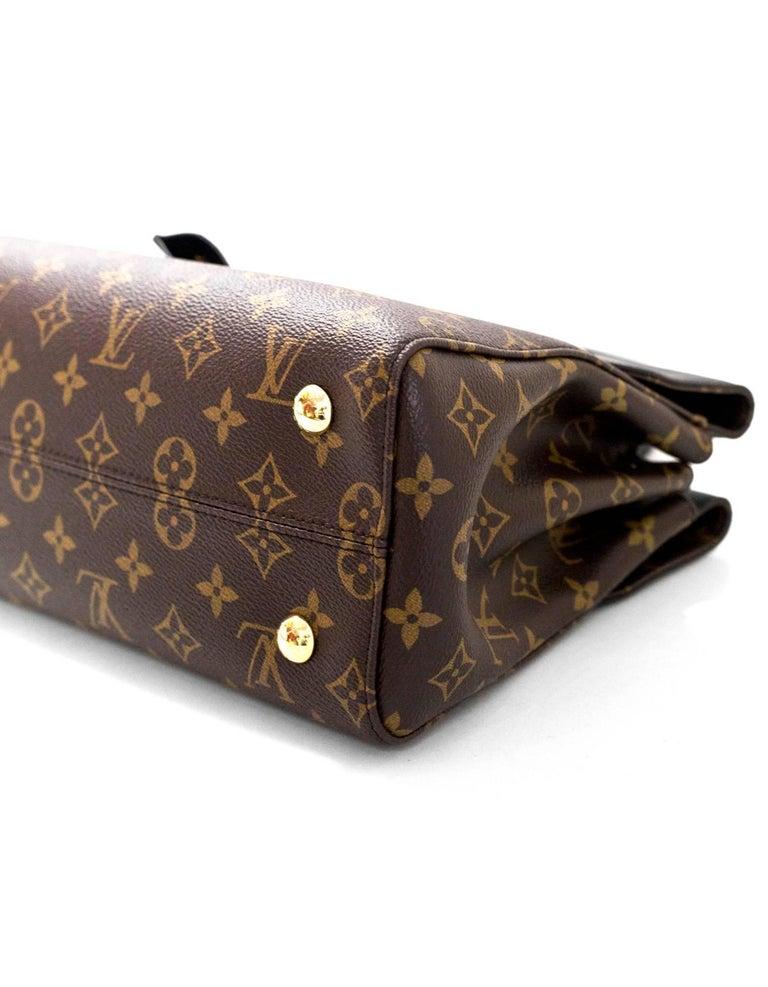 Louis Vuitton Monogram Noir Leather Venus Tote Bag With