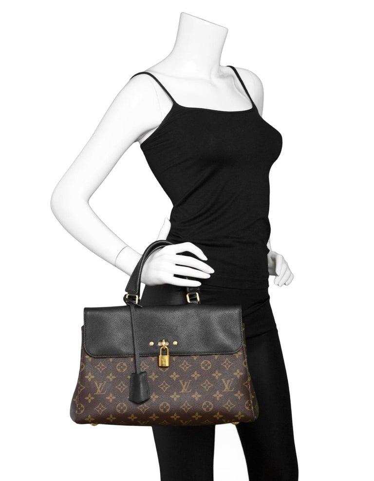 Louis Vuitton Monogram/ Noir Leather Venus Tote Bag with ...
