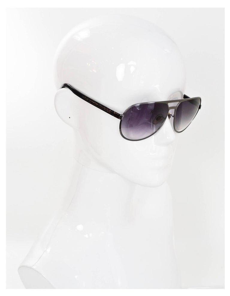 5baceef6b02 Gucci Black Aviator Sunglasses Made In  Italy Color  Black Materials   Resin