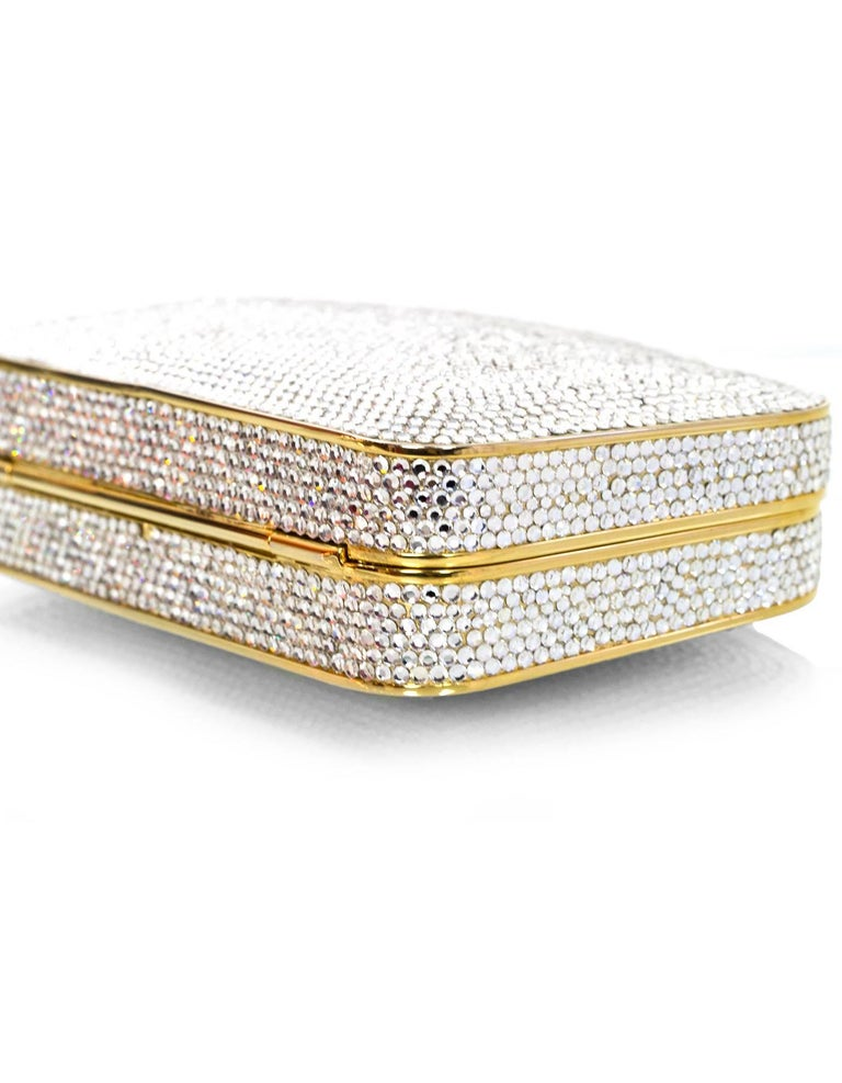 Women's Judith Leiber Crystal Minaudiere Evening Clutch Bag For Sale