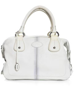 Tod's White Leather Bowler Bag