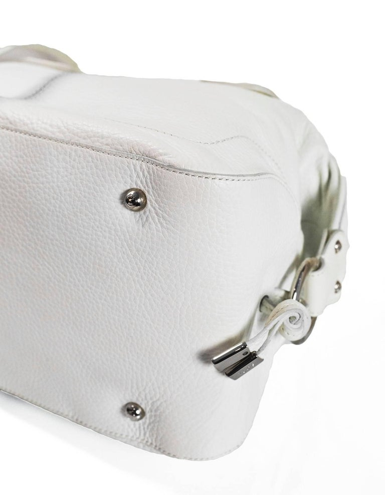 Women's Tod's White Leather Bowler Bag For Sale