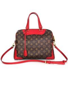Louis Vuitton Monogram & Cerise Red Leather Retiro Bag w/ Strap