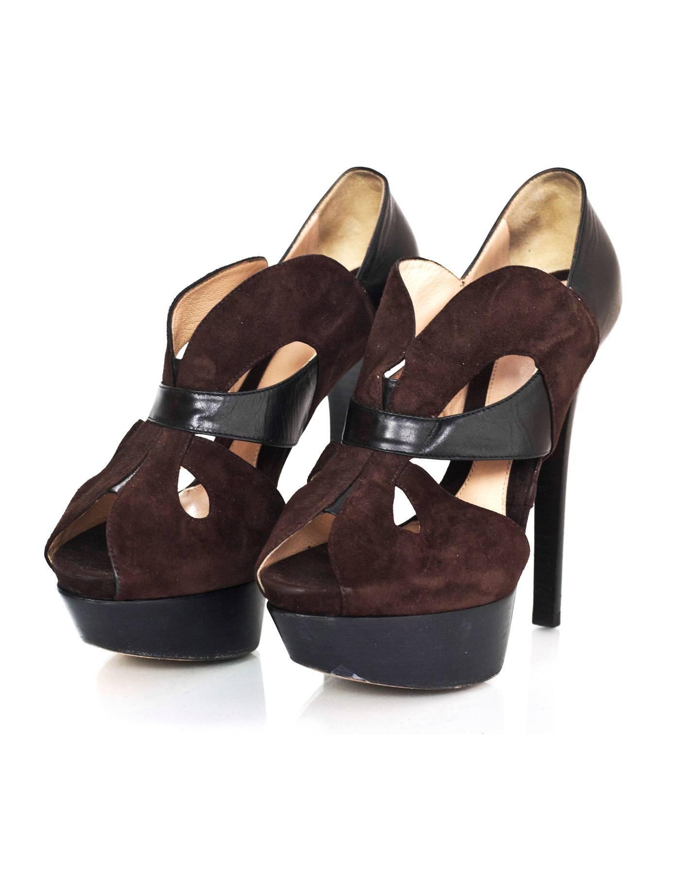 Pre-owned - Black Suede Heels Fendi nH278D6