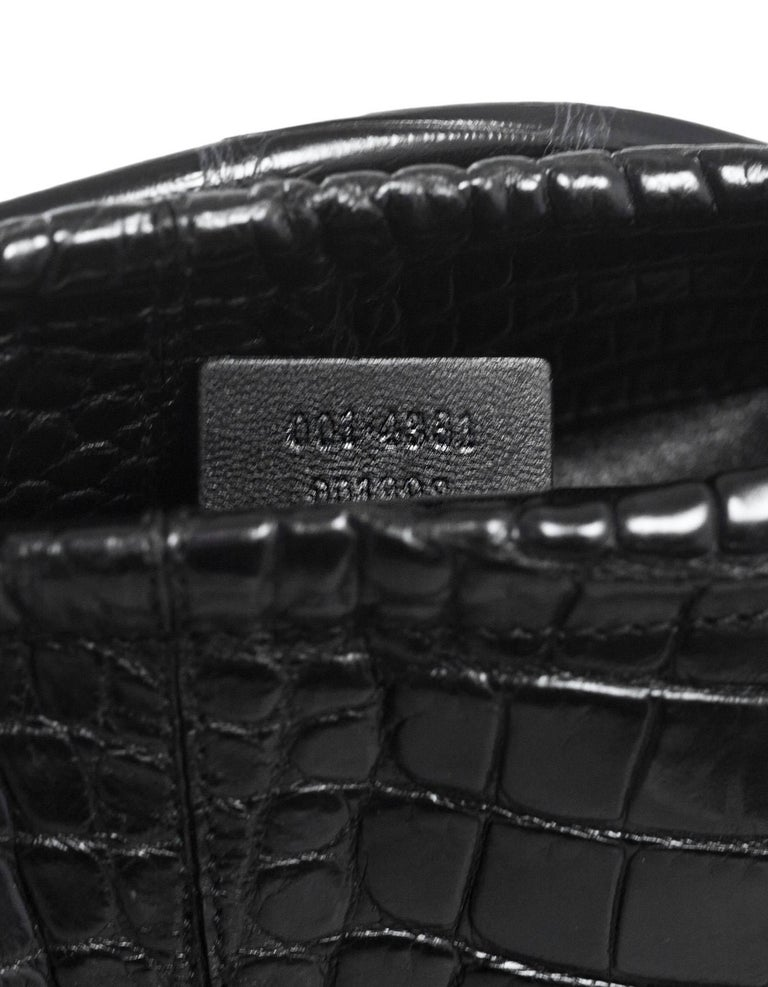 Gucci Black Crocodile Tote Bag With DB For Sale At 1stdibs