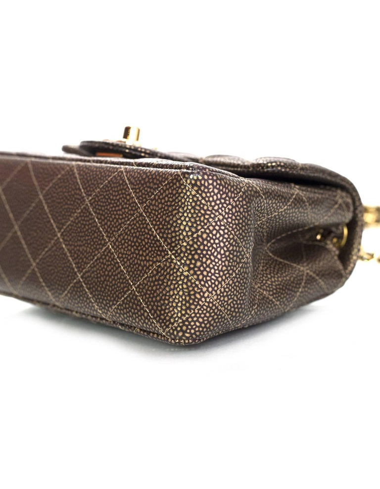 005bf0168651 Women's Chanel Dark Gold Caviar Square Mini Flap Bag with Box and DB For  Sale
