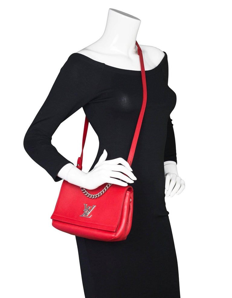 Louis Vuitton Red Lockme II BB Satchel Bag with DB 2