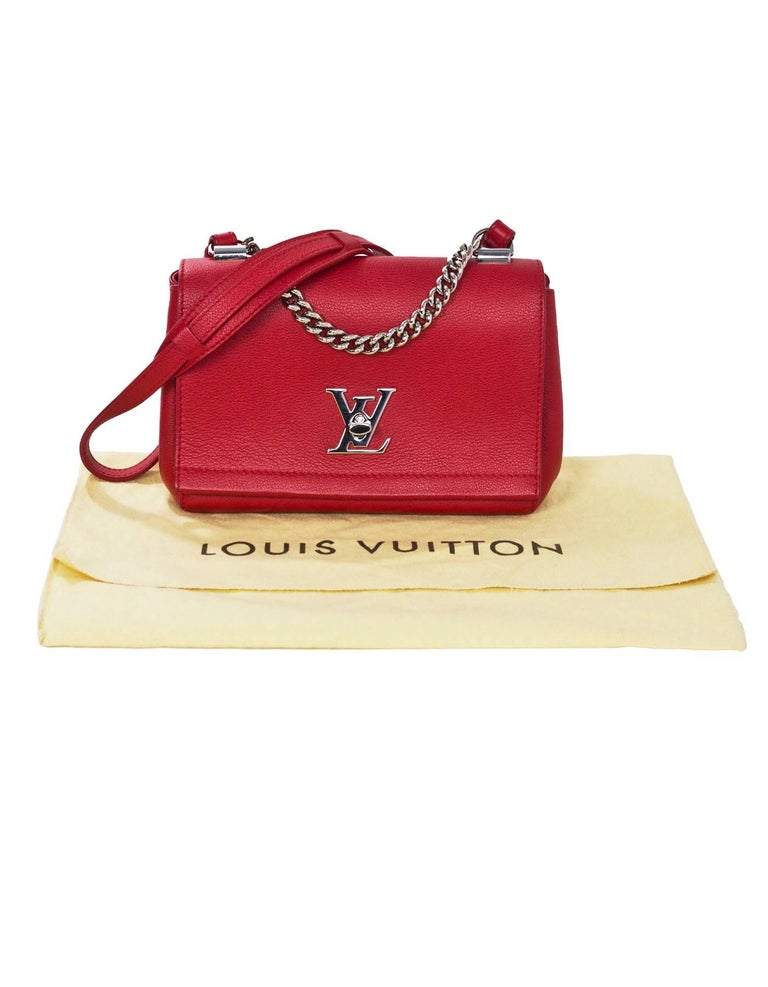 Louis Vuitton Red Lockme II BB Satchel Bag with DB 10