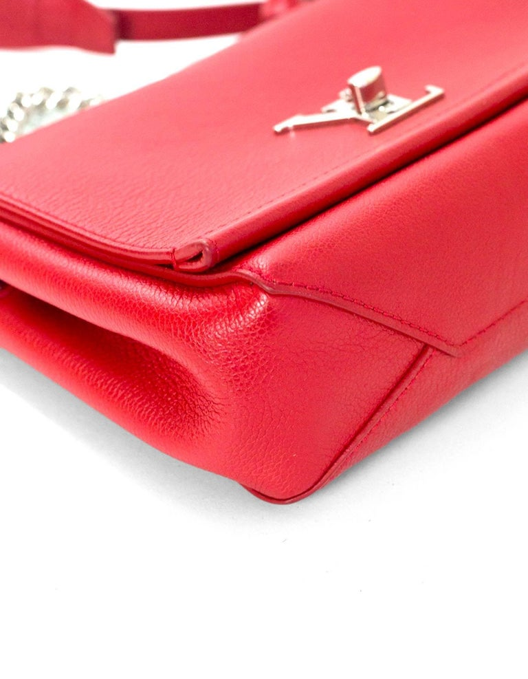 Louis Vuitton Red Lockme II BB Satchel Bag with DB 4