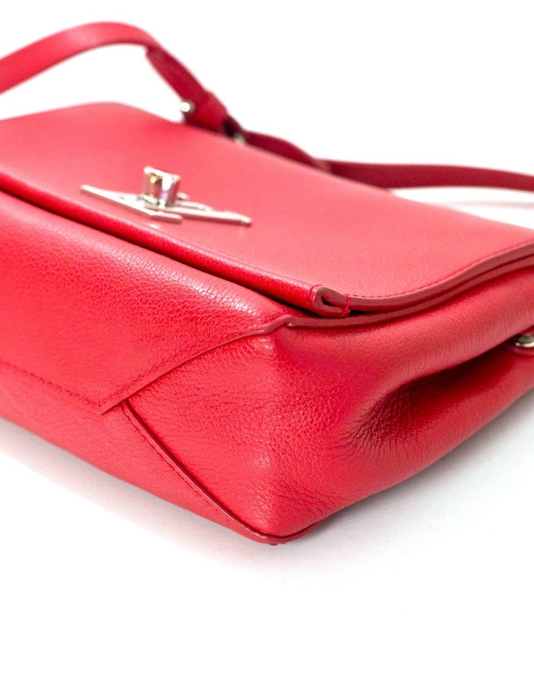 Louis Vuitton Red Lockme II BB Satchel Bag with DB 5