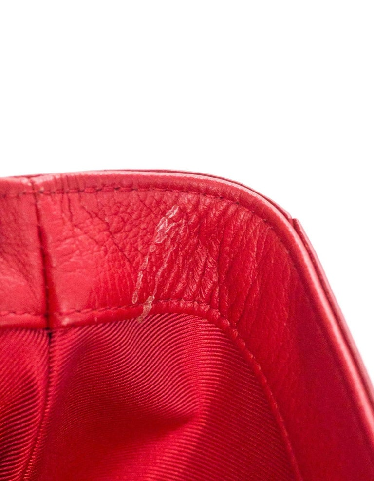 Louis Vuitton Red Lockme II BB Satchel Bag with DB 6