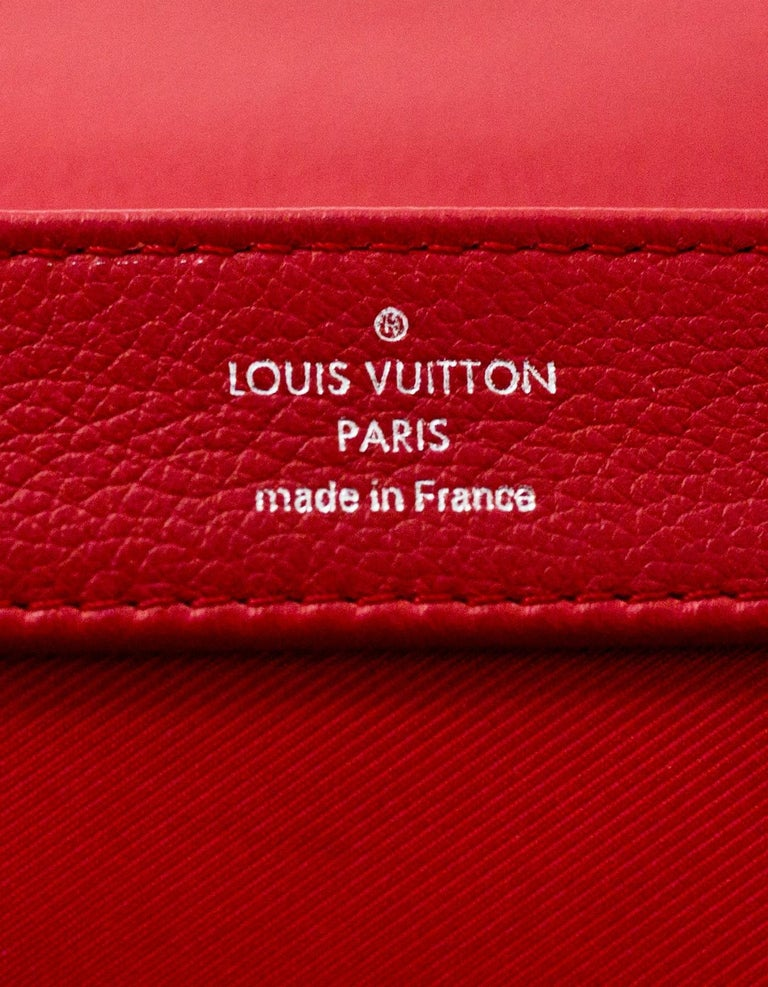 Louis Vuitton Red Lockme II BB Satchel Bag with DB 8