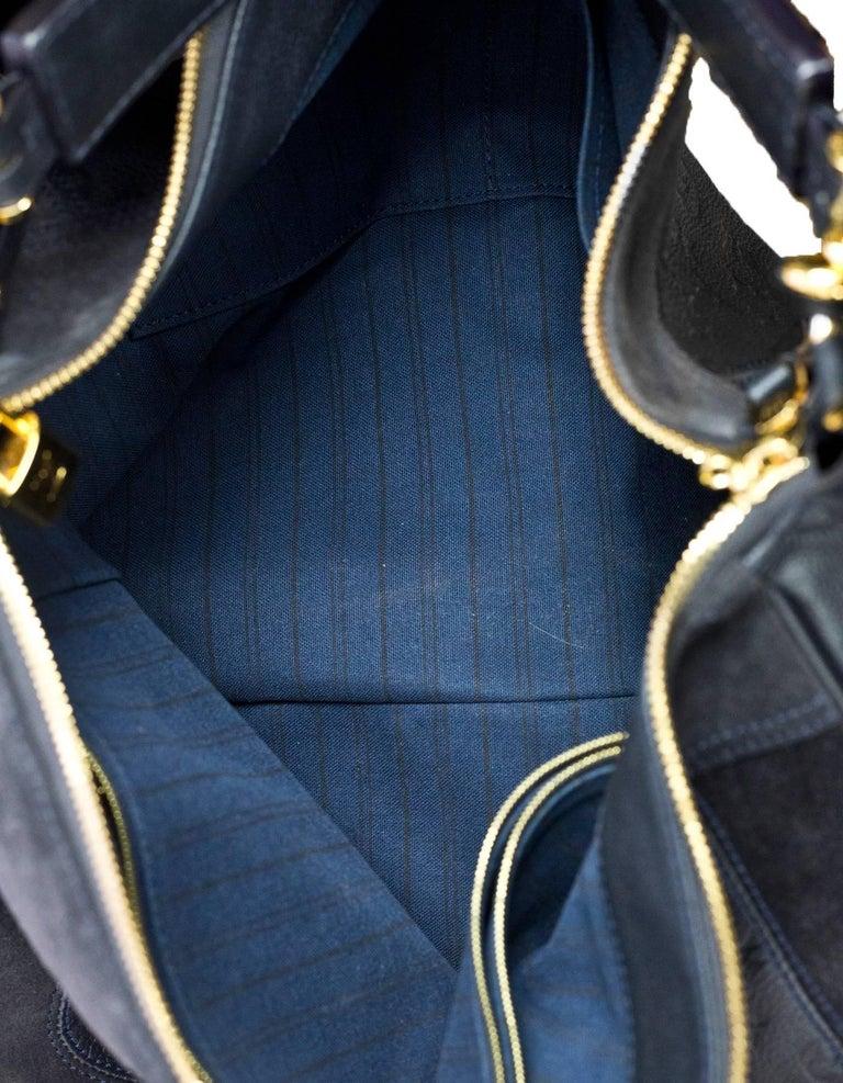 Louis Vuitton Bleu Infini Monogram Empreinte Audacieuse GM Bag With Strap  For Sale 2 6dc86fe475dd0