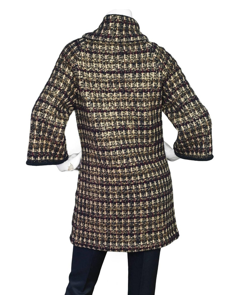 Chanel Wool and Cashmere Metiers d'Art Paris-Byzance Sweater Coat ...