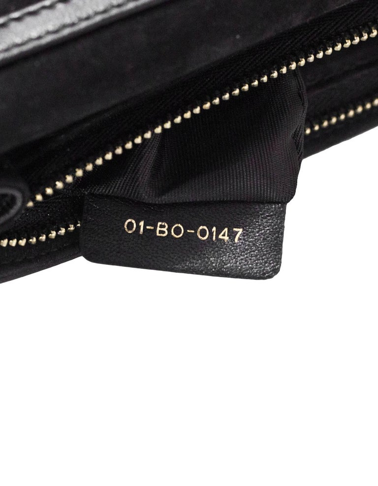 Christian Dior 2017 Black Leather Dioraddict Wallet On Chain Crossbody For Sale 4