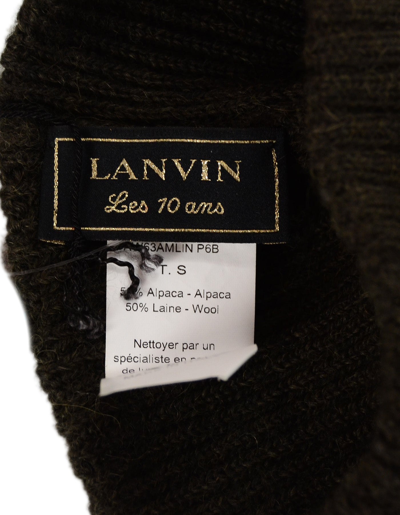 5f7bd24ba76 Lanvin Dark Khaki Wool Cap With Bow For Sale at 1stdibs
