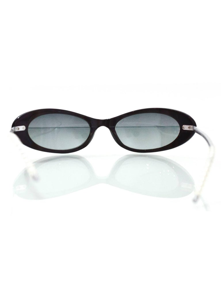 Chanel \'90s Vintage Grey Cat Eye Sunglasses For Sale at 1stdibs