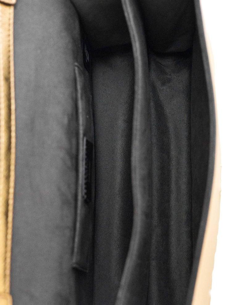 Fendi 2017 Gold & White Kan I Floral Monster Satchel Bag rt. $5,950 For Sale 2