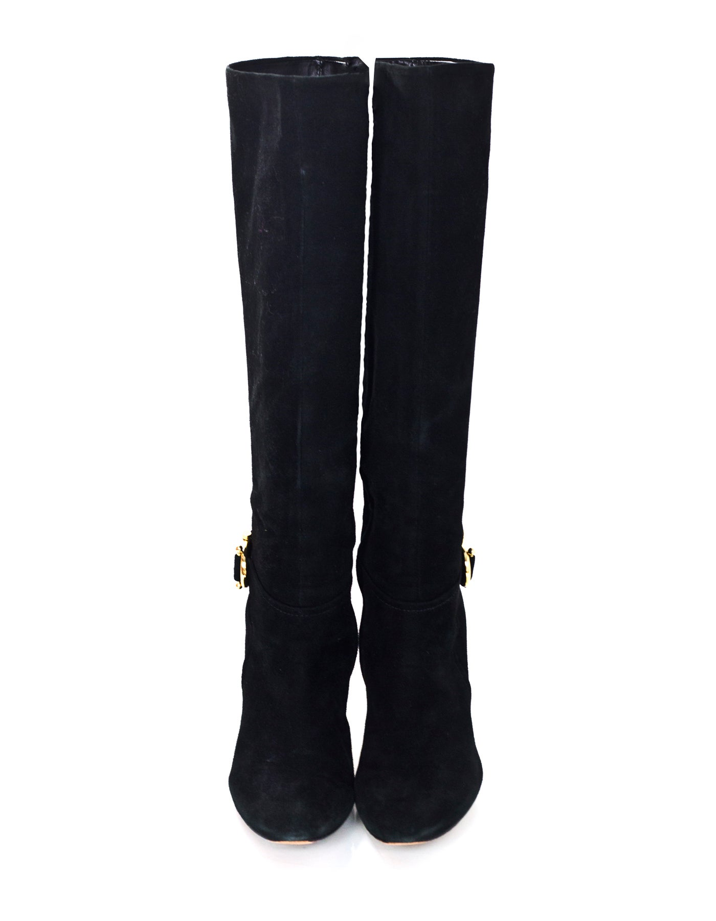 5b30d414651 Tory Burch Black Suede Boots Sz 8 For Sale at 1stdibs