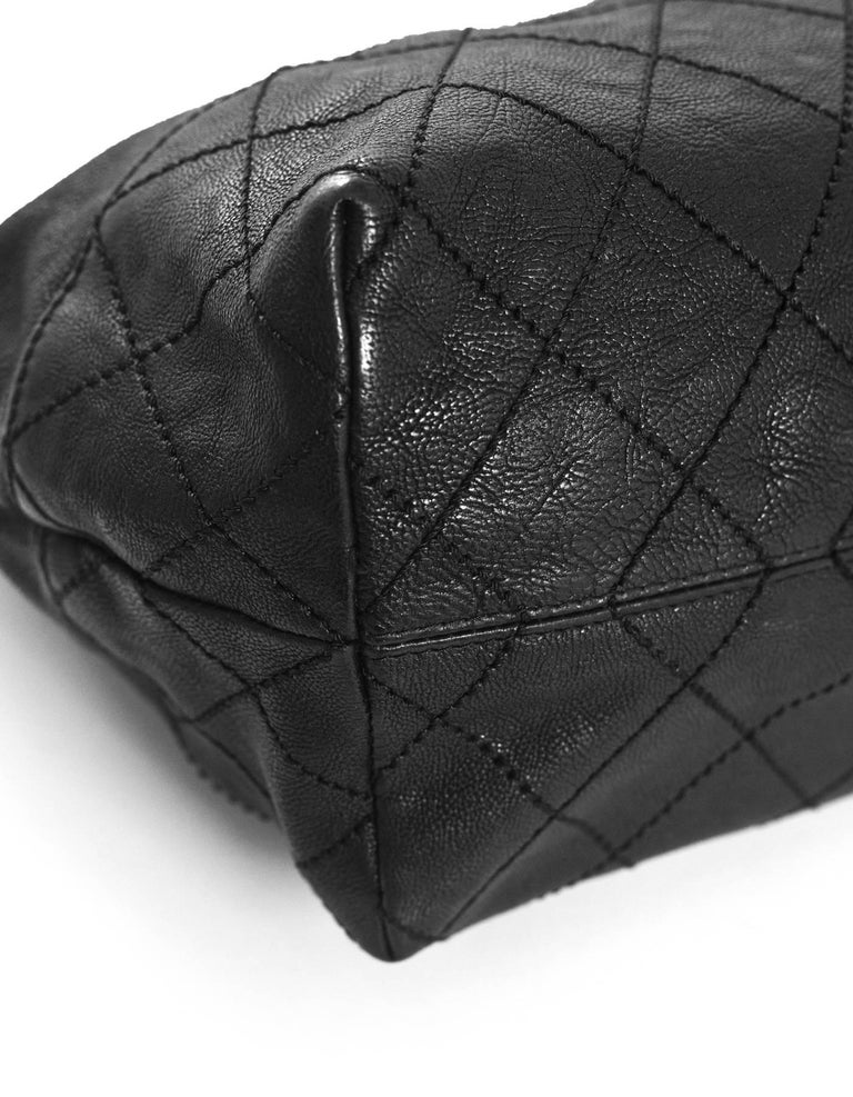 7e65aa8b146e Chanel Black Leather Petit Coco's Cabas Tote Bag For Sale at 1stdibs