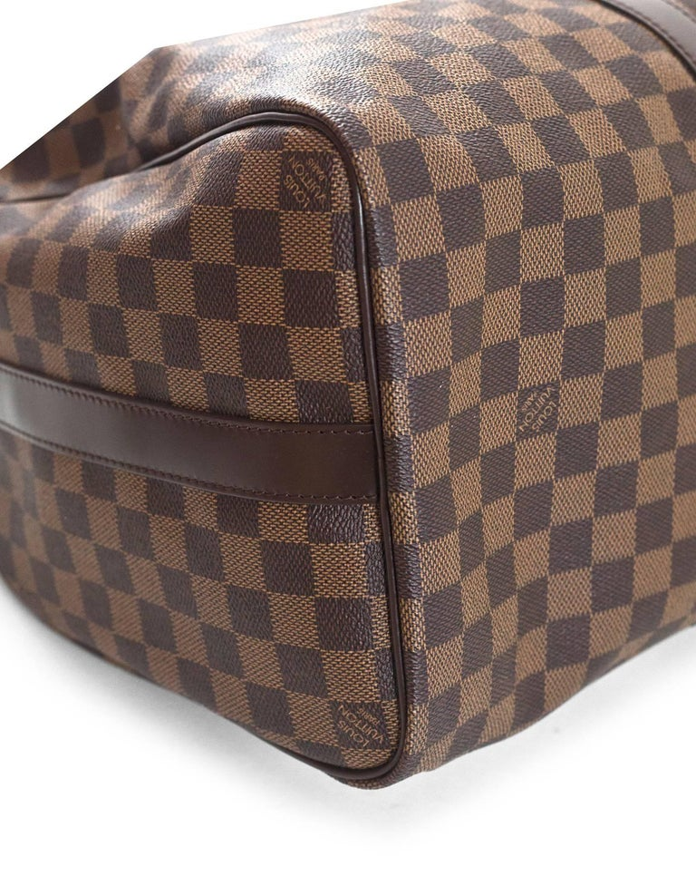 8bd0023dcc692 Louis Vuitton Brown Damier Keepall 45 Bandouliere with DB In Excellent  Condition For Sale In New