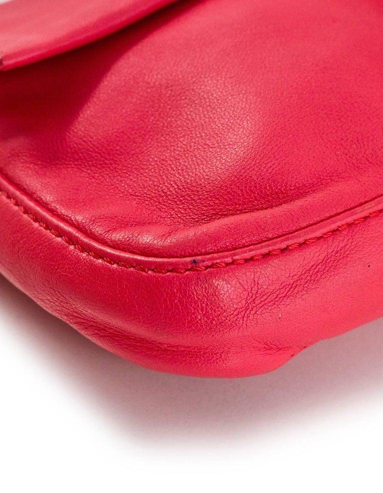 Women's Fendi Pink Leather Baguette Bag